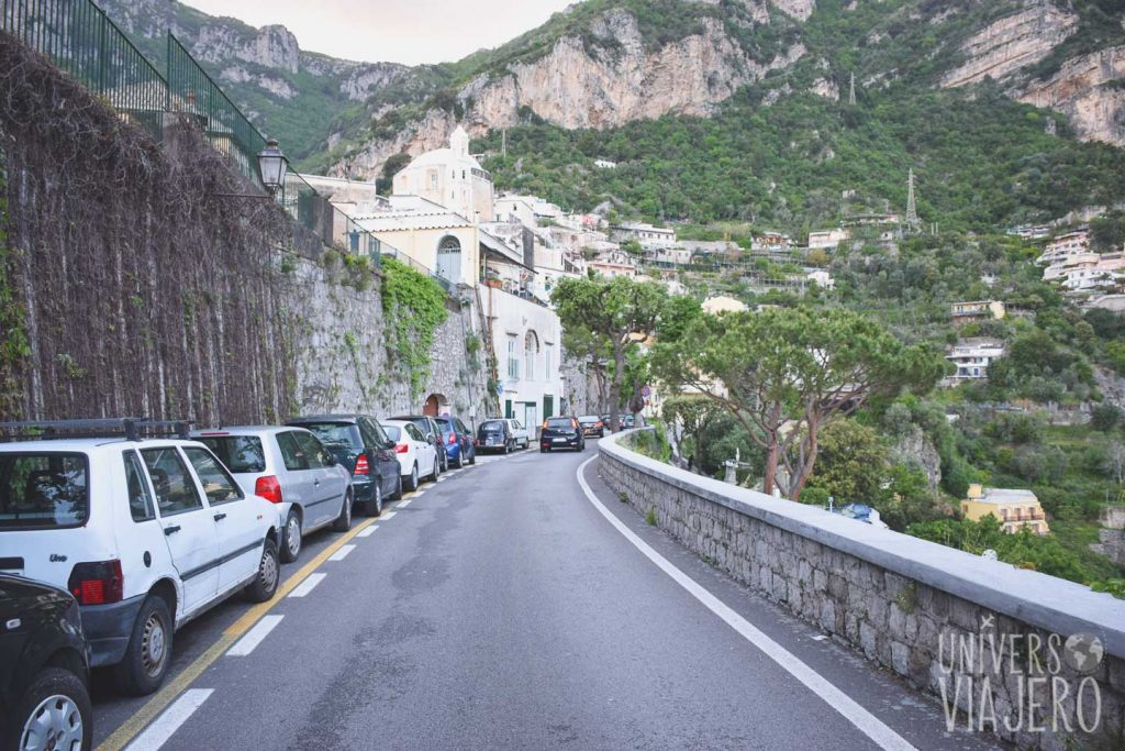 Car road on Positano