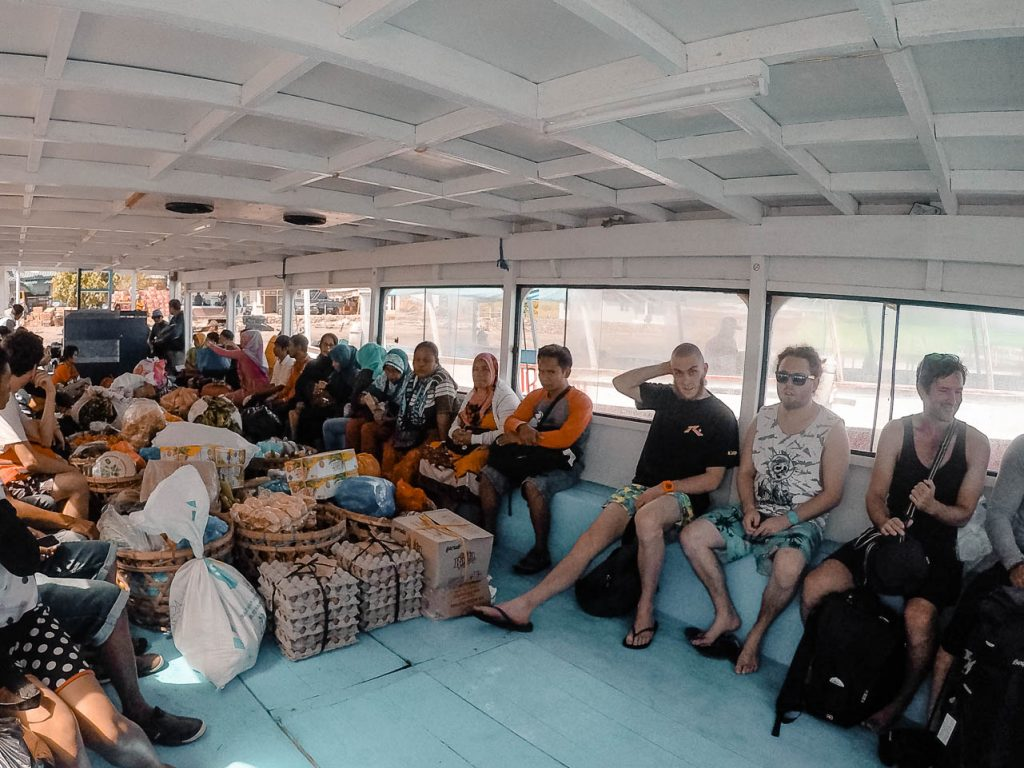 Public boat to the Gilis Islands