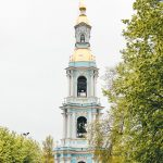 Bell tower in the Naval Cathedral of St. Nicholas